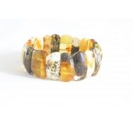 W161 Green Milky Amber Adult Bracelet