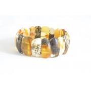 Green Milky Amber Adult Bracelet W161