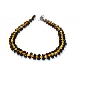 Plaited Amber Teething Necklace B17