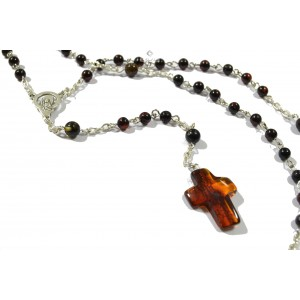 RSY01 Cherry Amber Christian Rosary
