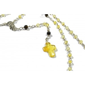 Christian Rosary made from Natural Baltic Amber RSY02