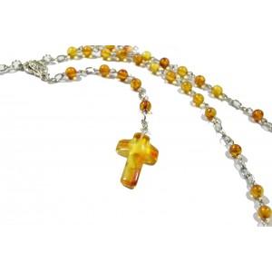 Honey Amber Christian Rosary RSY03