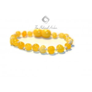 Milky Baroque Amber Teething Bracelet S2-1B