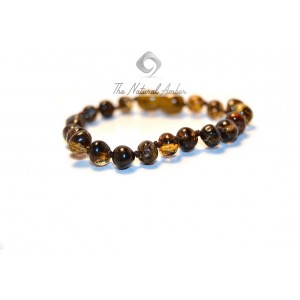 S2 Green Baroque Amber Teething Bracelets