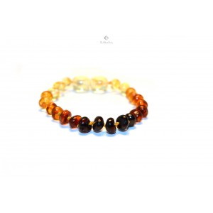 Rainbow Baltic Amber Teething Bracelet S2-5B