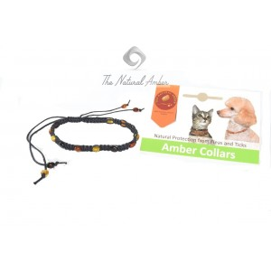 Amber Dog & Cat Necklace P105