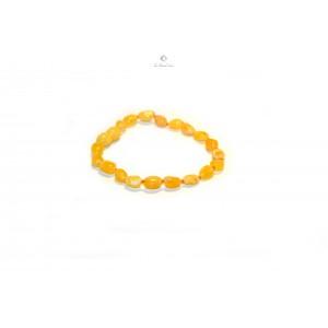 Milky Bean (Olive) Amber Baby Bracelet S8-1O