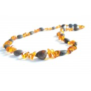 Raw Baroque and Olive Mix Amber Adult Necklaces A7