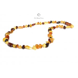 Olive/Baroque Mix Multicolor Amber Adult Necklace A21-1BO