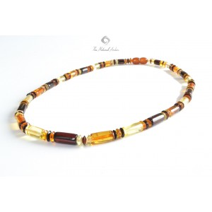 M1 Multi Amber Mens Necklace