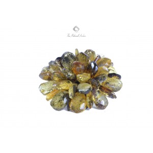 Faceted Baltic Amber Flower Brooch BR101