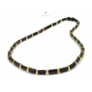 N233 Adult Faceted Amber Necklace