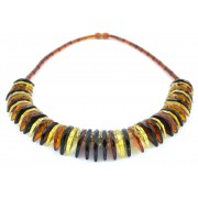 Adult Faceted Multicolor Amber Necklace N236