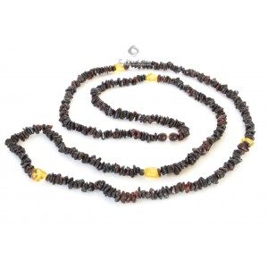 Adult Chips and Bean Amber Necklace N127