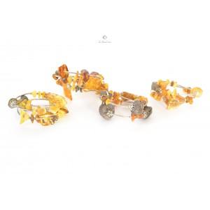 Spiral Raw Amber Bracelet W128