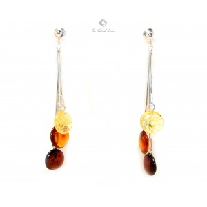 Multicolor Amber Drop Earrings E116