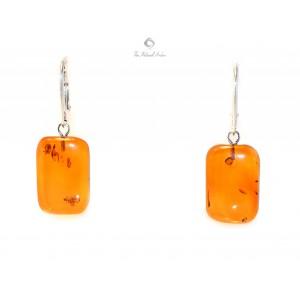 Cognac Amber Drop Earrings E122