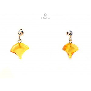 Amber Drop Earrings with Sterling Silver 925 E120