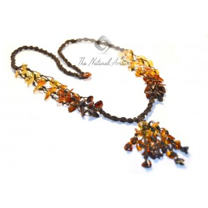 Polished Amber Chips Necklaces N109