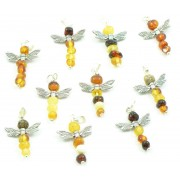 P157 Amber Pendant Dragonfly