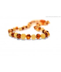 A4 Milky Mix Baroque Amber Adult Necklaces