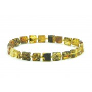 W140 Raw Amber Bracelets on Elastic Band