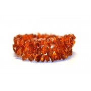 W118 Amber Chips Bracelets made on Flexible Band