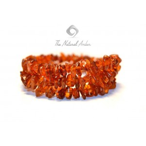 Amber Chips Bracelets made on Flexible Band W118