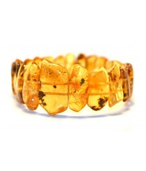 Honey Amber Bracelet on 2 Elastic Bands W107