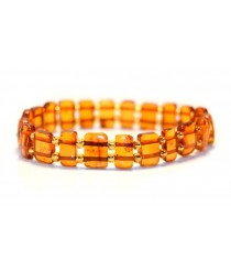 Amber Bracelets on 2 Elastic Bands W101
