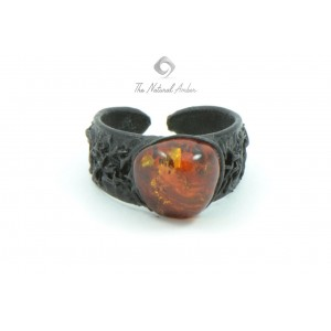 Amber Ring with Leather R113