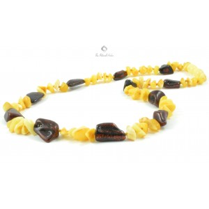 Chips and Bean Mix Amber Necklaces for Adults N129