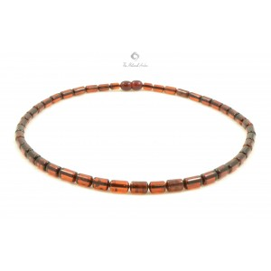 Cherry Cylinder Amber Adult Necklace N144