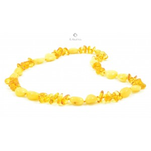 N101 Milky and Lemon Mix Amber Necklace