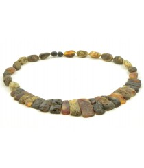 N245 Adult Raw Green Amber Necklace