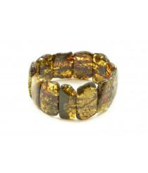 Green Amber Bracelet on Elastic Bands W117