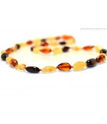 Olive Bean Amber Necklaces for Adults A8