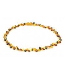 TE103 Multicolor Amber Teen Necklace
