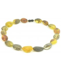 Raw Green Amber Adult Necklace N124