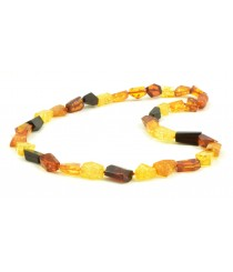 N209 Multicolor Amber Adult Necklace