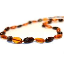 A10 Bean (Olive) Amber Adult Necklaces