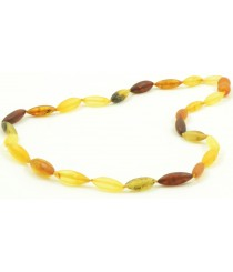 Raw Multicolor Amber Necklace for Adults N151