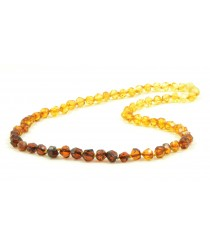 N215 Rainbow Faceted Amber Necklace