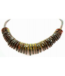 N235 Adult Faceted Cherry Amber Necklace