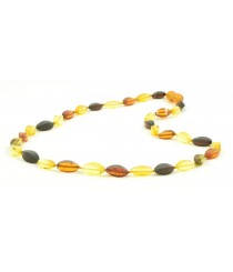N205 Adult Multicolor Amber Necklace