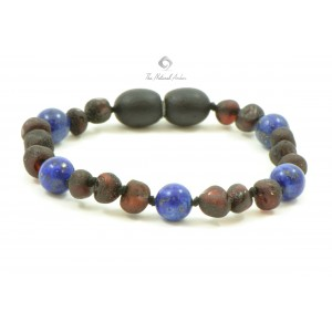 S15 Amber and Lapis Lazuli Mix Bracelets for Baby