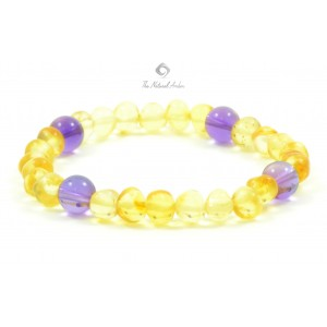 L13 Amber And Amethyst Mix Bracelets for Adults