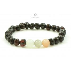 L16 Amber And Moonstone Mix Adult Bracelets