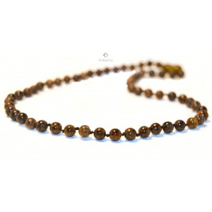 Round Amber Beads Traditional Necklaces for Adults