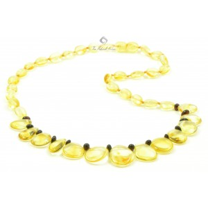 N120 Adult Cherry and Lemon Amber Necklace